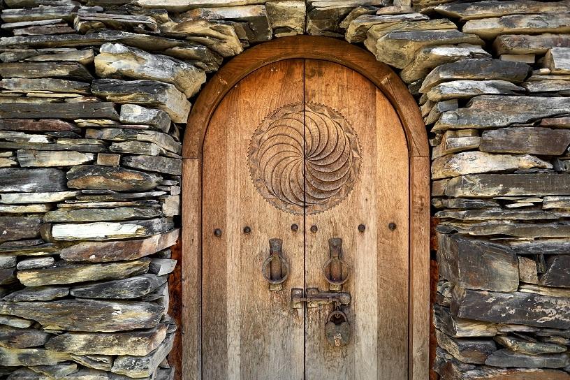 Mediaeval locked door