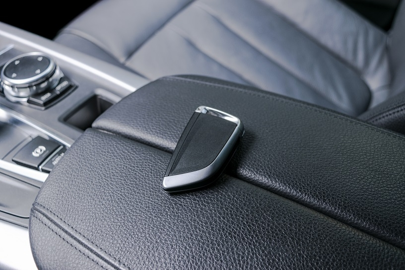 Car key susceptible to relay theft