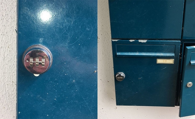 The combination locks we installed.